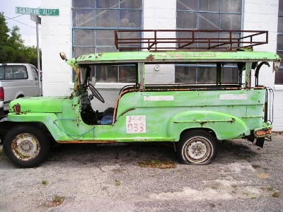 florida poor green jeepney